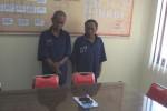 Dua tersangka capjiki saat diperiksa di Mapolres Boyolali (Septhia Ryanthie/JIBI/Solopos)