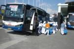 Calhaj asal Klaten saat tiba di Embarkasi Donohudan (Iskandar/JIBI/Solopos)