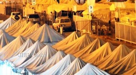 Tenda jemaah Indonesia di Padang Arafah, Mekah, Arab Saudi