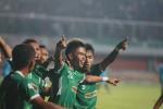 Para pemain PSS merayakan gol dalam pertandingan Divisi Utama melawan Lampung FC, Minggu (10/11/2013). (JIBI/Harian Jogja/Gigih M Hanafi)