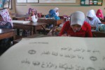 Siswi SD se-Wonogiri mengikuti Lomba Seni Kaligrafi Alquran (Loskaq) di ruang kelas SDN 7 Wonogiri pada lomba Mapsi tingkat Kecamatan Wonogiri, Senin (4/11/2013). (Trianto Hery Suryono/JIBI/Solopos)
