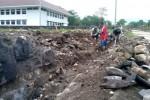 Talut di kompleks perkantoran terpadu Pemkab Boyolali di Kemiri, Mojosongo, ambrol di lima titik. (Dok/JIBI/Solopos)