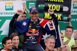 GP F1 Brasil: Vettel Cetak Rekor, Webber Rayakan Perpisahan dengan Finis di Urutan Kedua