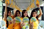 FOTO BUS SEKOLAH : Stiker Ajakan Naik Bus Sekolah