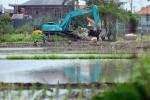 FOTO LAHAN PERTANIAN : Lahan Pertanian Terus Dialihfungsikan