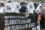 Ilustrasi demonstrasi menolak kondom (Liputan6,com)