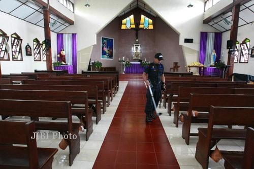 Ilustrasi pengamanan Hari Natal (Desi Suryanto/JIBI/Harian Jogja)