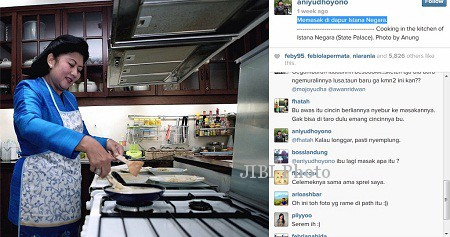 Foto Ani Yudhoyono di instagram.