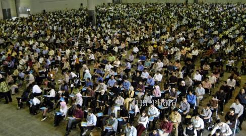 Ilustrasi ujian tulis dalam seleksi calon pegawai negeri sipil (CPNS) (JIBI/Solopos/Dok.)