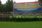 Apel konsolidasi gelar pasukan Operasi Mantap Brata Candi 2014 di halaman Polres Boyolali, Selasa (4/2/2014). (JIBI/Solopos/Septhia Ryanthie)
