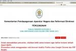 Laman cpns.menpan.go.id