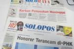 SOLOPOS HARI INI : Honorer Terancam di-PHK, Korban Penusukan Meninggal