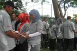 Sebanyak 300 sukarelawan PMI Wonogiri dari 30 desa se-Wonogiri mengikuti acara Gathering Relawan PMI Wonogiri, Sabtu (22/3/2014). (Trianto Hery Suryono/JIBI/Solopos)