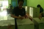 Warga binaan Lapas Cebongan memberikan suaranya dalam Pemilihan Umum Legislatif, di ruang aula Lapas setempat Rabu (9/4/2014). (Sunartono/JIBI/Harian Jogja)