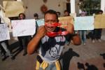FOTO AKSI WARTAWAN : Protes Penganiayaan Kontributor Kompas TV