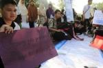 FOTO UJIAN NASIONAL : Tolak Corat-Coret saat Pengumuman UN