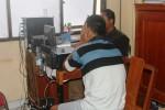 Sugiyarto saat dimintai keterangan di Mapolresta Gunungkidul, Rabu (7/6/2014). (JIBI/Harian Jogja/David Kurniawan)