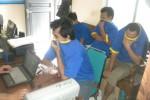 Penyidik Polres Sukoharjo memeriksa tersangka pengguna narkoba di Mapolres, Rabu (7/5/2014). (Iskandar/JIBI/Solopos)