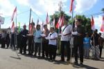 Berbagai unsur masyarakat mengumandangkan deklarasi di depan Pasar Argosari, Kecamatan Wonosari, Minggu (18/5/2014). (JIBI/Harian Jogja/Kusnul Isti Qomah)