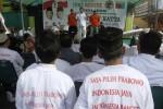 Ketua Tim Koalisi Pemenangan Prabowo-Hatta, Panembahan Agung Tedjowulan, memberikan orasi politik saat Deklarasi Masyarakat Surakarta Mendukung dan Memilih Prabowo-Hatta di Ponpes Ta'mirul Islam, Mangkuyudan, Solo, Jawa Tengah, Senin (23/6/2014). Deklarasi yang dihadiri perwakilan berbagai organisasi tersebut dilaksanakan guna menghimpun perolehan suara capres dan cawapres Prabowo-Hatta di Kota Solo. (Septian Ade Mahendra/JIBI/Solopos)