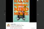 Poster Malam Minggu Miko Movie diunggah di twitter @radityadika