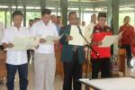 Perwakilan kedua tim pemenagan pasangan calon presiden di Gunungkidul membacakan ikrar deklarasi pemilu damai. Jumat (6/6/2014). (David Kurniawan/JIBI/Harian Jogja)