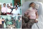 (Searah jarum jam) Yeni Wahyuningsih, 9, saat melakukan pemeriksaan di RS dr Sardjito, setelah dioperasi dan sesaat setelah dioperasi. Foto: Istimewa
