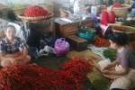Pedagang cabai di Pasar Beringharjo, Jumat (18/7/2014). (Abdul Hamied Razak/JIBI/Harian Jogja)