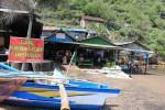 Tulisan larangan berjualan di area pasiran dipasang di Pantai Baron, Kemadang, Tanjungsari. (Kusnul Isti Qomah/JIBI/Harian Jogja)