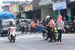 Suasana arus lalu lintas di sekitar Pasar Argosari, Wonosari. (David Kurniawan/JIBI/Harian Jogja)