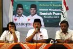 FOTO HASIL PILPRES 2014 : Tim Prabowo-Hatta Ajak Simpatisan Tunggu KPU