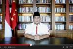 Pesan Prabowo Subianto di Youtube (Youtube)