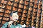 Presiden Susilo Bambang Yudhoyono memberikan keterangan pers di kediaman pribadinya, Puri Cikeas, Bogor, Jabar, Kamis (31/7/2014).(JIBI/Solopos/Antara/Andika Wahyu)