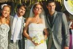 Petenis nomor satu dunia Novak Djokovic foto bersma mempelai wanita dan relannya. Ist/fanpop.com