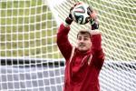 Kiper Real Madrid yang juga penjaga gawang Timnas Spanyol Iker Casillas sedang berlatih saat berlaga di Piala Dunia 2014. JIBI/Reuters/Henry Romero