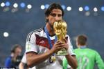 Sami Khedira setelah bersama Jerman menjadi juara dunia 2014. (JIBI/Dailymail)