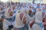 Para calon jamaah haji mengikuti bimbingan manasik haji di Asrama Haji Boyolali, Rabu (13/8/2014). Jamaah haji di Boyolali akan diberangkatkan dalam dua kloter. (JIBI/Solopos/Ahmad Baihaqi)