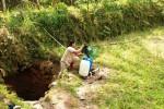 Akibat kekeringan yang terjadi, Warga Ngangkruk memanfaatkan air seadanya. sementara untuk kebutuhan air bersih warga harus berjalan sejauh 2 kilometer. Selasa (26/8/2014). (JIBI/Harian Jogja/David Kurniawan)
