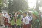 Pelajar SD di Kota Jogja belajar mengenai ragam satwa yang dilindungi. (JIBI/Harian Jogja/Uli Febriarni)