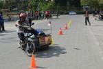Orang dengan kebutuhan khusus tengah menjalani sosialisasi tentang keselamatan dan etika dalam berkendara. (JIBI/Harian Jogja/Humas UGM)