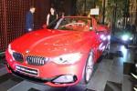 Presiden Direktur BMW Group Indonesia Karen Lim bersama Vice President BMW Indonesia Jentri Izhar berdiri di samping sedan mewah BMW 428i Convertible M Sport, di sela peluncuran mobil terbaru itu, Jakarta, Selasa (19/8/2014). BMW Group memperkenalkan mobil sedang The All New BMW 4 Series Convertible yang dibanderol dengan label harga Rp1.088.000.000 (of the road). (Endang Muchtar/JIBI/Solopos)