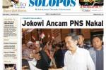 Halaman Depan Harian Umum Solopos edisi Sabtu, 23 Agustus 2014