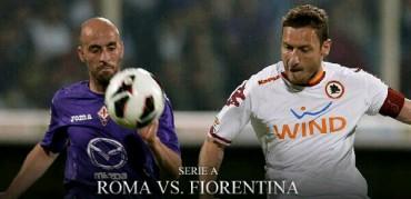Laga antara AS Roma vs Fiorentina yang berlangsung musim lalu. Ist/Dok
