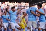 Aguero dkk merayakan gol Manchester City dalam sebuah laga. Ist/Dok