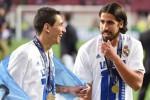 Angel Di Maria dan Sami Khedira, dua pemain Real Madrid yang akan hengkang. Ist/laacib.net