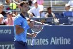 Reaksi Grigor Dimitrov seusai mengalahkan Dudi Sela di U.S. Open. JIBI/Rtr/Anthony Gruppuso