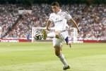 Gelandang serang baru Real Madrid James Rodriguez saat beraksi dalam Piala Super Spanyol leg pertama melawan Atletico Madrid di Santiago Bernabeu stadium. JIBI/RReuters/Juan Medina