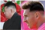 Gaya rambut terbaru Leonel Messi ada yang menyebut mirip dengan potongan Pemimpin Korea Utara Kim Jong-un. Foto: Ist/@bbcsporf