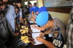 Pemeriksaan senjata api Polres Gunungkidul (David Kurniawan/JIBI/Harian Jogja)