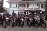 Barisan Polisi di depan gedung KPU DIY, Kamis (21/8/2014). (Ujang Hasanudin/JIBI/Harian Jogja)